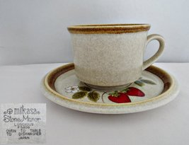 Mikasa Luscious Cup and Saucer Stone Manor Line Stoneware - $9.99
