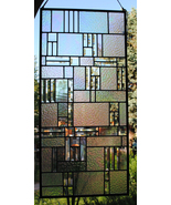 Stained Glass Clear Bevels and Clear Iridized Textures - $297.00