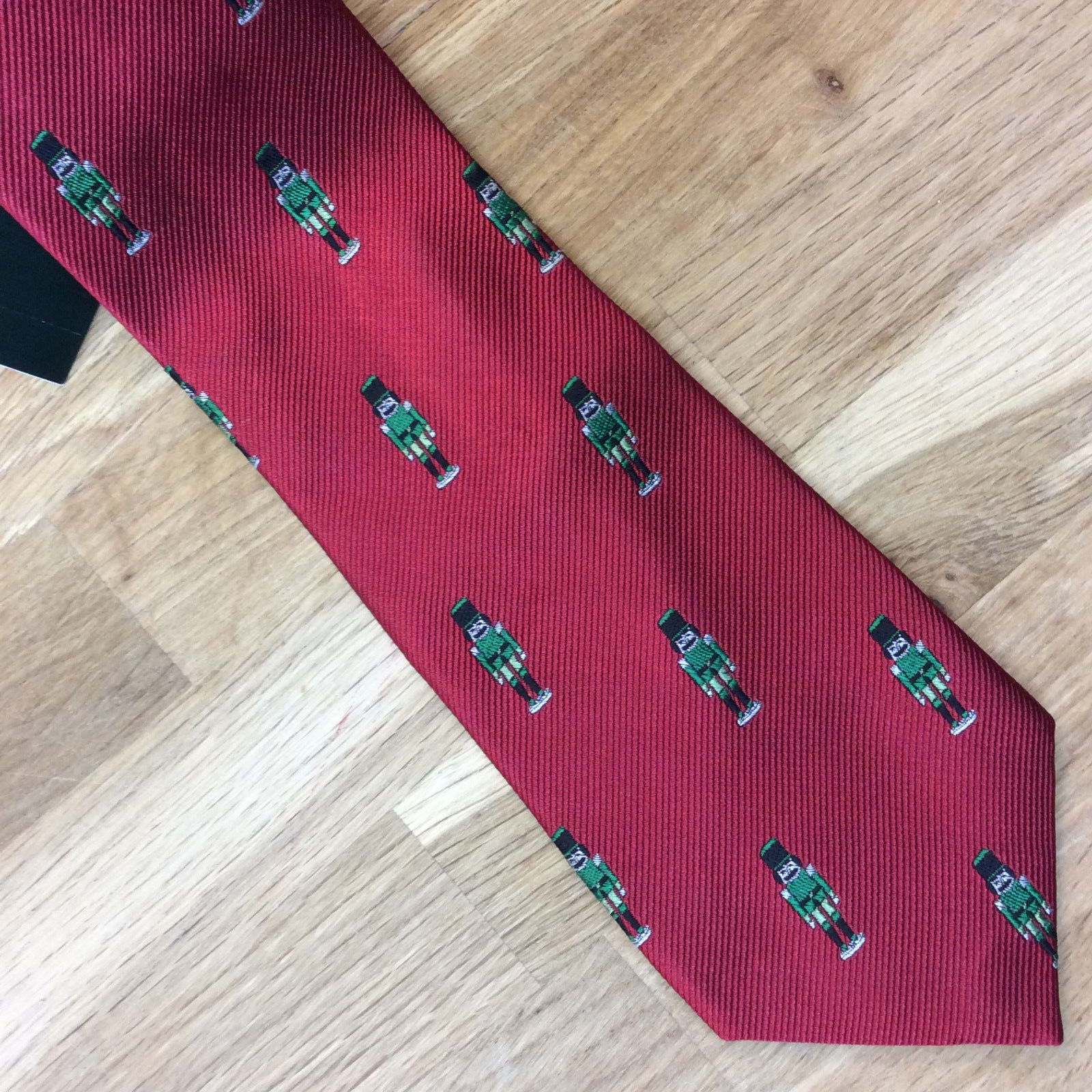 $65.00 Ralph Lauren Men's Toy Soldier Holiday Printed Tie Red