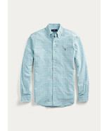 Men's Ralph Lauren Classic Fit Button Down Oxford Cotton Shirt, Navy-Kelly Green - £37.93 GBP