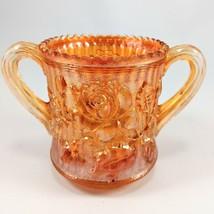 Imperial Carnival Glass Marigold Open 2 Handle Sugar Bowl Rose - $12.19