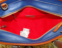 Dooney & Bourke Pebble Leather Brandy Satchel OCEAN BLUE image 7