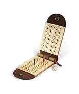 Walnut Studiolo Travel Cribbage Board Game - $45.00