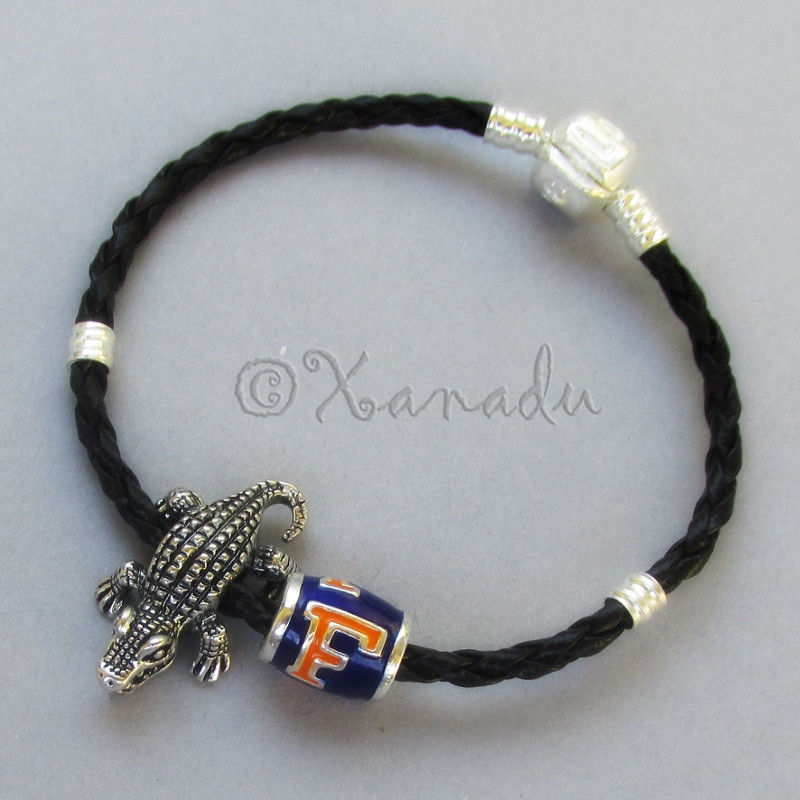 University Of Florida Football Team Bead N Florida Gators Mascot Charm Bracelet