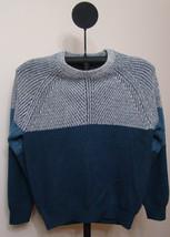 Nautica Mood Indigo Blue Men's Crewneck Colorblock Knit Sweater - Size X... - $49.95