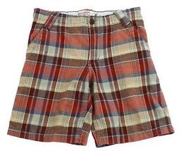 Shorts Genuine Kids from OshKosh Plaid Brown Rust Stripes Boys 4 5 - $3.95