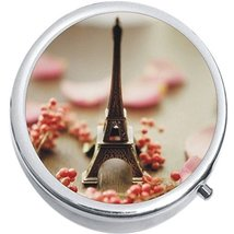Eiffel Tower Paris Medicine Vitamin Compact Pill Box - $9.78