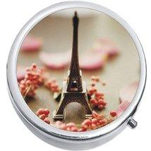 Eiffel Tower Paris Medicine Vitamin Compact Pill Box - €8,24 EUR