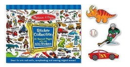 Melissa & Doug 500 Count Blue Sticker Collection, Markers+Free Activity Book - $14.80