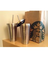 STARBUCKS STAINLESS STEEL TUMBLER 16 oz TO GO COLD CUP - $34.64