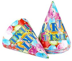 NEW 12pcs Large Paper Kids Funny Hats Cone Birthday Caps of Birthday Party - €6,78 EUR