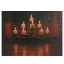 """Northlight LED Flickering Candles in a Fireplace Canvas Wall Art 12"""" x 1... - $14.59"""