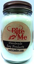Bite ME - 16oz Country Jar Soy Candle - Handmade in Rolla MO - Novelty C... - €11,76 EUR