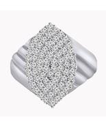 2.00 Carat Round Cut Diamond 10k White Gold 925 Cluster Wedding Ring - $99.99