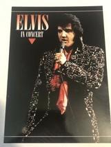Elvis Presley Postcard Elvis In Concert Black Jumpsuit - $3.46