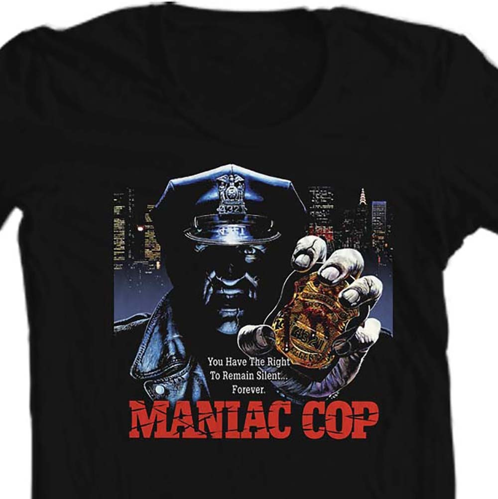 Maniac cop t shirt 80 s horror film movie t shirt