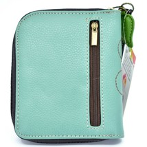 Chala Handbags Faux Leather Whimsical Ladybug Teal Zip Around Wristlet Wallet image 2