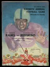 LA RAMS v REDSKINS NFL PROGRAM AUG 17 1955 FOOTBALL-LA FN/VF - $93.12