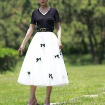 Handmade Champagne Tulle Skirt Outfit High Waisted Tulle Skirt Princess Skirt image 10