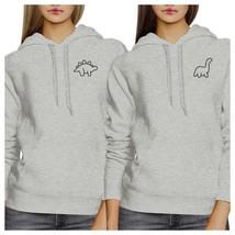 Dinosaurs BFF Matching Grey Hoodies - $50.99+