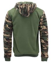 MX USA Men's Army Camo Zip Up Sherpa Hoodie Fleece Hunting Sweater Jacket image 9