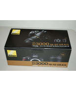 Nikon D D3000 10.2MP Digital SLR Camera Black Kit w AF-S DX VR 18-55mm L... - $617.41