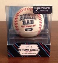 HALLMARK Rookie Dad 2014 First Father's Day Autograph Baseball w/ stand NIB - $6.93