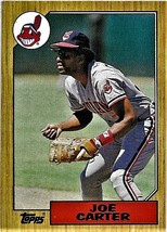 1987 Topps Baseball Card, #220, Joe Carter, Cleveland Indians - $0.99