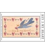 Key To My Heart cross stitch chart Artful Offerings  - $9.00