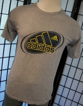 Adidas made in the USA adult cotton heather gray 90s tee shirt medium m - $19.95