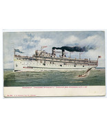 Theodore Roosevelt Great Lakes Steamer Chicago Michigan City Line 1910 p... - $6.93