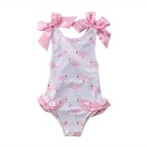 US Newborn Cute Kids Baby Girl Bikini Swimwear Swimsuit Beach Flamingo S... - $13.69