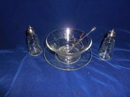 Princess House Heritage Mayonaise Bowl w/Underplate & Spoon; Plus Salt &... - $15.83