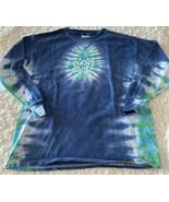 Gildan Ultra Cotton Boys Blue Green White Tie Dye Long Sleeve Shirt Medi... - $12.13