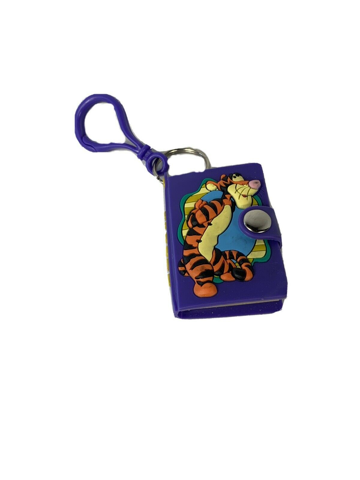 Vintage Disney Winnie The Pooh Pal Tigger Mini Notebook Key Chain/Pull Applause - $5.86