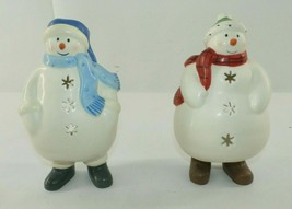 Hallmark Mitford Snowmen Christmas Candle Holder Display, Lot of 2 - $14.84