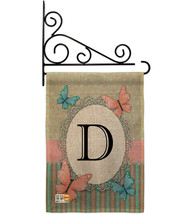 Butterflies D Initial Burlap - Impressions Decorative Metal Fansy Wall B... - $33.97