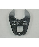 """NEW Proto Crowfoot Wrench 11/16"""" Open End 3/8"""" Drive 4922CF - $9.89"""