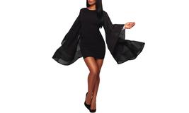 Women's Elegant Mesh Deep V Back Bodycon Party Cocktail Dress - $24.99