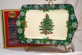 """Spode 2019 Christmas Tree Annual Line Dessert Tray 12"""" NIB - $35.33"""