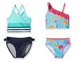 Nautica Baby Girl's Tankini Bathing Swim Suit 2-Piece UPF 50+ Sun Protection NEW