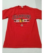 Chicago Blackhawks 2013 Stanley Cup Champions Red T-Shirt Small Good Con... - $12.86