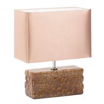 Home Desk Lamp, Small Rustic Ceramic Bedside Desk Lamp Night Light - $31.95