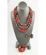 ESTATE Jewelry RARE HOBE PARURE CORALINE MURANO WEDDING CAKE NECKLACE BR... - $425.00
