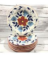 "Pier 1 Portalegre Hand Painted Earthenware Dinner Plates 11 1/8"" Set of 6 - $42.08"