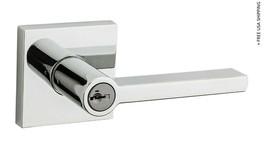 Kwikset 91560-008 Polished Chrome Halifax Square Keyed Entry Lever 91560-008 - $53.90