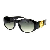 Womens Designer Fashion Lion Emblem Thick Plastic Oval Sunglasses - $13.32 CAD