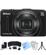 Nikon COOLPIX S9700 16MP Digital Camera (Black) Refurbished Bundle - $148.49