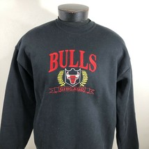 VTG Chicago Bulls Sweatshirt Crew Neck 50/50 Logo 7 Made USA 90s 80s Jor... - $26.69