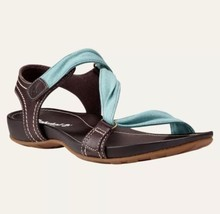 Timberland Women's Lola Bay Brown & Teal Blue Slide Sandals Style 8208A Size 9M - $59.39
